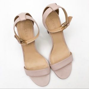 J. Crew Leather Strappy Sandals in Dusty Pink EUC